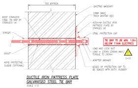 Pattress Plate Design Hartswood Road Tie Anchor Scheme Veda Associates