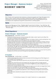 Business Analyst Project Manager Resume Samples | Qwikresume