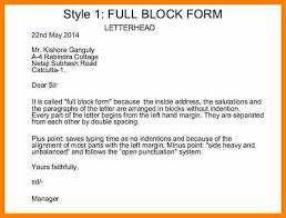 Block Letter Sample Business Letter Format Full Block 6 Sponsorship Proposal