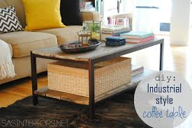 Industrial Style Coffee Tables Diy Modern To Industrial Style Coffee Table Jenna Burger