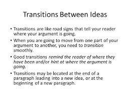 paper rater how to transition between ideas the first sentence of each paragraph will be the topic sentence the topic sentence must accomplish two things refer back to the previous
