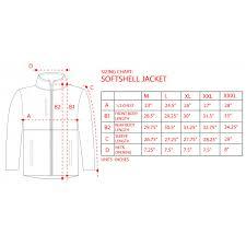Soft Shell Jacket Size Chart Soft Shell Jacket