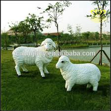 garden animal statues. Exellent Statues Garden Animal Decor Life Size Sheep Statue Lawn Fiberglass Resin Sculpture Intended Statues N