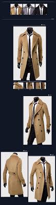 classic polyester knee length warm winter long mens trench coat top fashion man coat trench coat