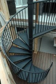 The spiral staircase from