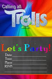 Free Trolls Birthday Party Invitation Printables Printables 4 Mom