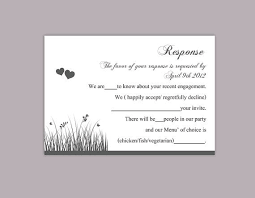 Party Rsvp Template Diy Wedding Rsvp Template Editable Word File Instant