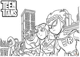 Small Picture Teen Titans coloring page Free Printable Coloring Pages