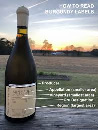 Wine Designation Premier How To Read Burgundy Labels French Wine Labels V Is For Vino