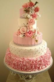 wedding cakes pink wedding cakes with bling pink wedding cakes