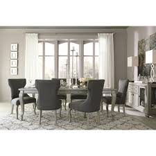 ashley dining room table set. ashley furniture coralayne rectangular dining room extension table set in silver