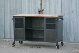 Industrial Kitchen Furniture Buy A Hand Crafted Vintage Industrial Bar Cart Kitchen Island Mid