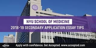 New York University Medical School 2018 2019 Secondary