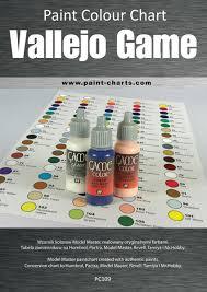 Paint Colour Chart Vallejo Game Color 12mm