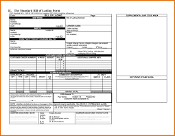 bill of lading printable form vics bill of lading template 69 infantry