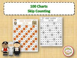 Skip Counting Chart 100 Number Charts With Skip Counting Halloween