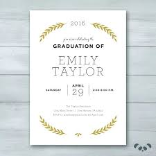 Party Invitation Generator Graduation Invitation Printable Graduation Invitation