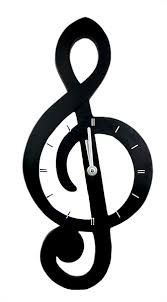 treblecleff treble clef wall clock musical clocks gifts musical gifts online