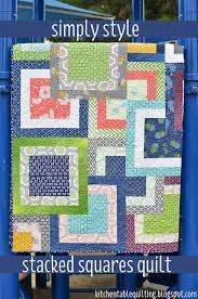 Simply Style Stacked Squares Quilt - Free Quilt Tutorial & Free Quilt Pattern and Tutorial - Simply Style Stacked Squares Quilt Adamdwight.com