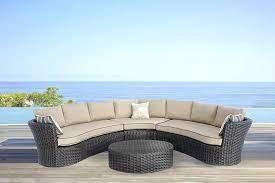 luxury outdoor curved rattan sofa set