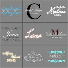 Cool Gobo Designs Wedding Gobos I Made Projector Light Names Design