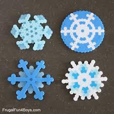 Design Beautiful Perler Bead Snowflakes Frugal Fun For Boys And Girls