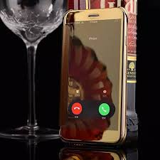 mirror iphone 7 plus case. for apple iphone 7/ 7 plus case smart view mirror effect accept call pc iphone ,