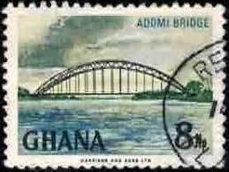 Adomi Bridge Volta River Ghana Stamp Sc293 Used Hipstamp