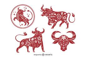 2 of the best draw something drawings for ox. Chinese Zodiac Ox Drawing Vector Download