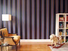 <b>Purple</b> Striped Wall as done by Mark Chamberlain. I'd live this in a ...