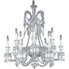 baccarat style no 2606556 baccarat crystal zenith 12 light short chandelier