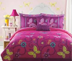 girl full size bedding sets childrens comforter sets full size save pink yellow teal butterfly