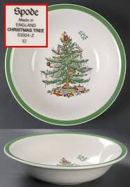 Spode Christmas Tree (Green Trim) Ascot Coupe Cereal Bowl