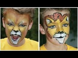 lion face painting tutorial 2 versions lion makeup