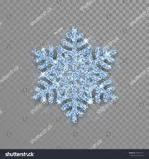 Sparkling Blue Crystal Snowflake Glitter Texture Stock Vector