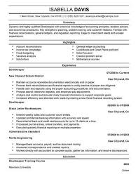 Bookkeeper Resume Magnificent Bookkeeping Resume Samples Kenicandlecomfortzone