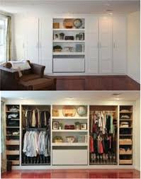 Small Picture Built in closet wall great storage space Home Designing