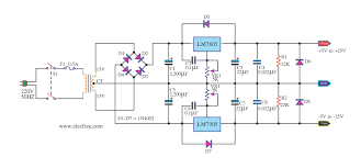dual adjustable power supply circuit diagram wirdig lm317 circuit diagram lm317 image about wiring diagram and