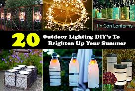 diy outdoor lighting. 20 Outdoor Lighting DIY\u0027s To Brighten Up Your Summer Diy E