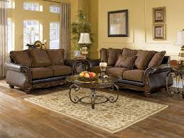 Living Room Set Ashley Furniture Ashley Wilmington Walnut Sofa Loveseat
