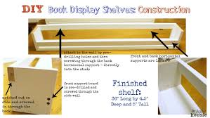 diy book display shelves construction instructions at the happy housie