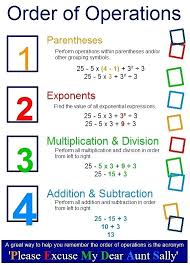 Order Of Operations Anchor Chart Order Of Operations For Kids Charleskalajian Com