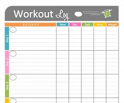 Printable Fitness Chart 003 Weekly Workout Schedule Template Stirring Ideas Training
