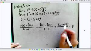 finding the equation of a secant between two points