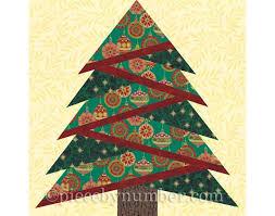 Tree Quilt Patterns Fascinating Pine Tree Quilt Block Pattern Paper Piecing Quilt Pattern Etsy