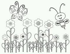 Small Picture Flowers butterfly and Caterpillar printable coloring pages