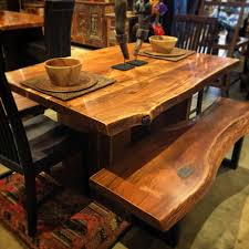 Live Edge Indian Rosewood Dining Table 60x40x30 2595 Bench
