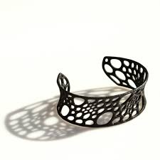 Bamboo Patterned 3D-Printed Cuff | 3d, Patterns and 3d printed jewelry
