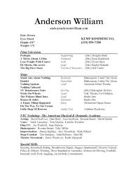 Theater Resume Template Delectable Actors Resume Template For Beginners Bullionbasis