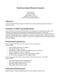 Cover Letter Business Analyst Resume Example With Professional